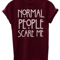 Normal People Scare Me Funny Mens T-Shirt [Apparel] ~
