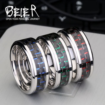 316L stainless steel Ring Mens Jewelry Wedding Band Silver New BR-R001