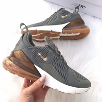 shosouvenir  Nike W Air Max 270 Flyknit   Atmospheric cushion 270 sports shoes