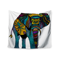 """Pom Graphic Design """"Elephant of Namibia"""" Wall Tapestry"""