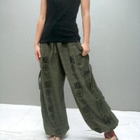 New printed KAL yoga pant (KAL- ohm green)