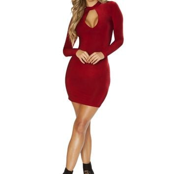 Roma 3642 Long Sleeved Dress with Cutout Detail