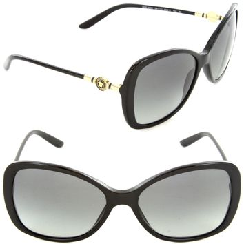 Versace VE 4303 GB1/11 Butterfly Sunglasses Black/Grey Gradient Lens