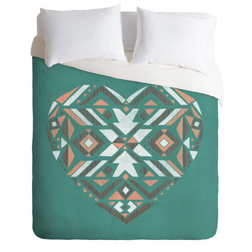 Loni Harris Tribal Heart Duvet Cover
