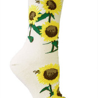 Natural Sunflowers Socks