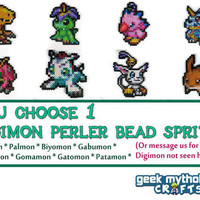YOU CHOOSE 1 - Digimon Digital Monsters Video Game Perler Bead Sprite Pixel Decorations