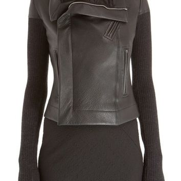 Rick Owens Leather Biker Jacket | Nordstrom