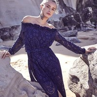 Adele Dress - Navy Lace