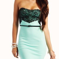 lace tube dress $36.30 in KHAKI NEONPINK SEAFOAM - Nightclub | GoJane.com