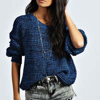 Mila Marl Knit Fisherman Jumper