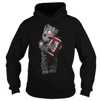 Groot Alabama Crimson Tide football shirt Hoodie