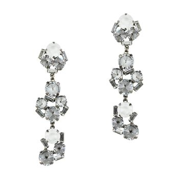 CHARLOTTE STATEMENT EARRINGS IN HEMATITE