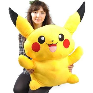 "Giant Big Size Pokemon Pikachu Plush Doll -16"" Soft Stuffed Toy (32"")"
