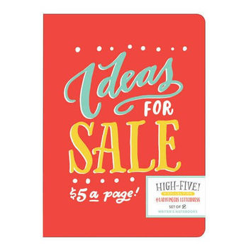 Colorful Notebook 2-Pack: Ideas for Sale / Bright Ideas!