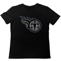 TonyGray Men's Funny Tennessee Titans Pro Line Up And Over T-shirt Black L