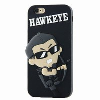 iphone 6 case, Star Wars Case,Mingfung 3D The Avengers soft Silicone cover case for iPhone 6-Hawkeye