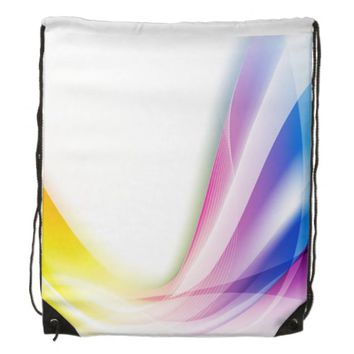 Abstract Swirl 1 Drawstring Bag