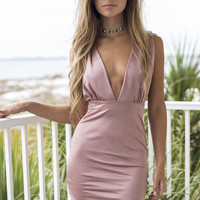Screen Queens Rose Gold Sleeveless Dress