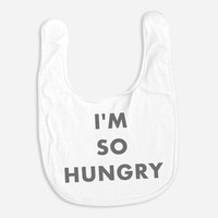 Hello Merch — I'm So Hungry (Babies) White Bib