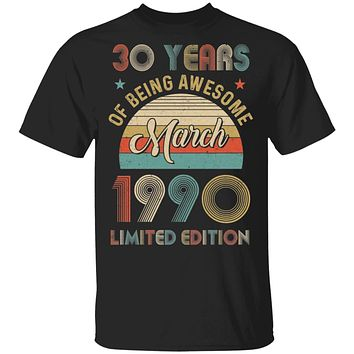 Vintage March 1990 Limited Edition 30th Birthday Gifts