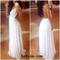 White Lace Prom Dresses White Lace Evening Dresses
