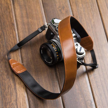 Leather Canon Nikon DSLR Camera Strap