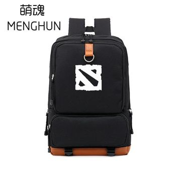 Cool Backpack school DOTA2 new design COOL game fans icon TI international Championship shield Agis printing backpack school bag GAME props NB123 AT_52_3