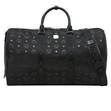 Mcm Men's Dieter Monogram Nylon Duffel Bag