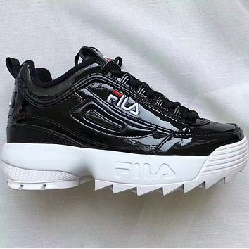 FILA tide brand fashion casual shoes F Black