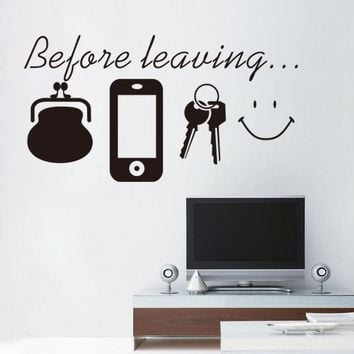 % Reminder vinyl quotes don't forget door wall art sticker decal kitchen lounge home decor Daily poster Spanish English Mural
