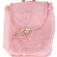 Jelly Mini Backpack - Clear Pink