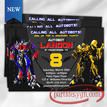 Shop Transformers Invitations on Wanelo