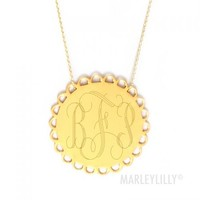 Gold Monogram Necklaces | Marleylilly