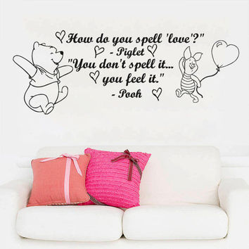 How Do You Wall Decal Winnie The Pooh Quotes Vinyl Sticker Nursery Kids SM156
