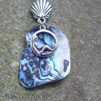 mermaid necklace abalone necklace Paua necklace