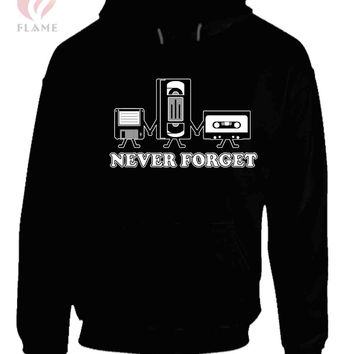 Never Forget Guys Retro Gift Idea Music Unisex Hoodies