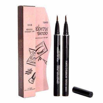 VOND4H Eyebrow Enhancers Women Makeup Product Waterproof Brown 7 Days Eye Brow Eyebrow Tattoo Pen Liner Makeup
