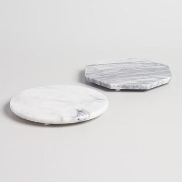 Mini Geo White Marble Cutting Boards Set of 2