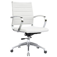 Fine Mod Imports Sopada Conference Office Chair Mid Back, White