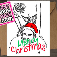 Funny Christmas Card Naughty Anniversary Card Dirty Greeting Card I Love You Card For Boyfriend Girlfriend Husband Wife Men Sex Best Friend