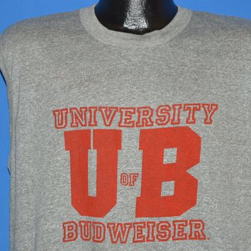 80s University Of Budweiser Tank Top t-shirt Large