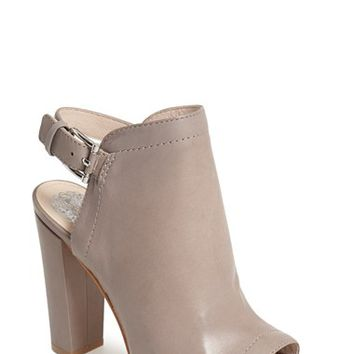 Women's Vince Camuto 'Vamelia' Open Toe Leather Bootie,