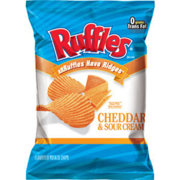 RUFFLES CHEDDAR CHEESE CHIPS