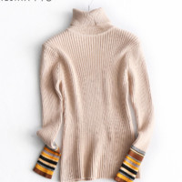 striped turtleneck  one size  tg