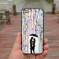 Watercolor Under the umbrella loves ipone 5s case iphone 4/4s/5/5c case Samsung galaxy s5 case galaxy s3/s4 case covers skin 329
