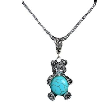 Trendy Lovely Bear Pendant Necklace