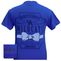 New UK Kentucky Wildcats Big Blue Prep Pattern Bow Girlie Bright T Shirt