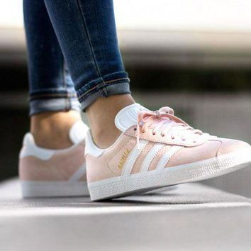 ESBON Best Online Adidas Originals Wmns Gazelle Vapour Pink / White / Gold Metallic Women's Sneakers Classic Casual Shoes