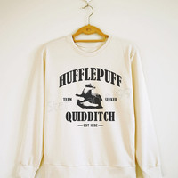 Hufflepuff Quidditch Shirt Hufflepuff Shirt Harry Potter Shirt Sweater Sweatshirt Jumpers Tee Long Sleeve Women Shirt Unisex Shirt SizeS,M,L