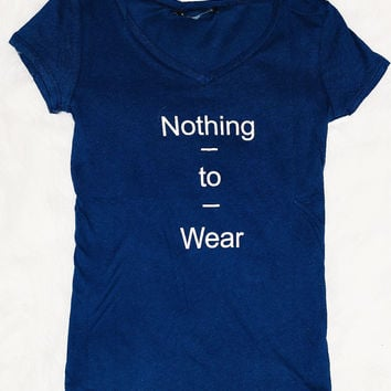 NOTHING TO WEAR TEE IN NAVY